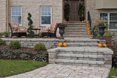 Landscapers Architectural Design Front Entry New Construction in the Fox Cities