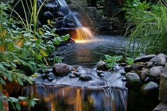 Waterfall Feature and Landscaping Design in Kimberly, WI