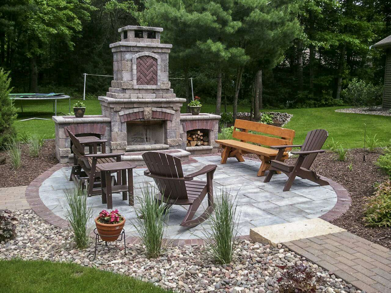 Outdoor Fireplace Landscaping Design in Appleton, WI on Small Outdoor Fireplace Ideas id=88663