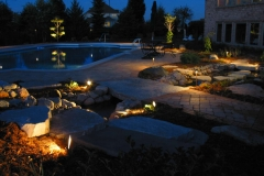 Landscape Architectural Lighting around Pool Near Appleton