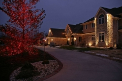 Outdoor Lighting with Holiday Lighting Near Sherwood, WI