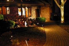 Brick Pathway with Lighting in the Fox Cities