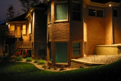 Outdoor Landscaping at Night In the Fox Valley