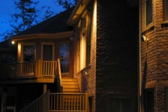 Deck and Steps with Outdoor Lighting Near Green Bay