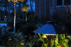 Planting Bed with Landscape Lighting