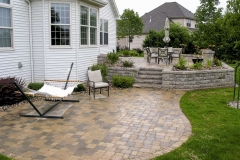 Multilevel Patios with Retaining Wall and Stairs Near Appleton
