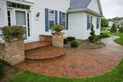 Sealed Red and Grey Brick Walkway In Appleton Area