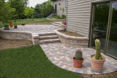 Random Pattern Hardscape Patio with Soldier Course Near Door County