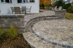 Free Flowing Layered Patio In Wisconsin