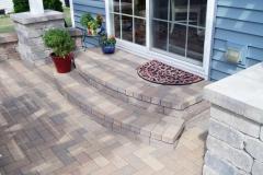 Hollander Brick Steps to Patio