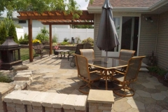 Backyard with Pergola from Vande Hey Company