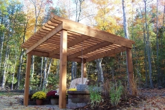 Cedar Pergola Structure Near Green Bay, WI