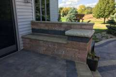 Seat Wall with Back Rest and Side Table In Kaukauna, WI