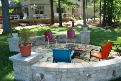 Two Seat Walls Around Flagstone Firepit