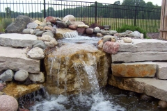 Natural Stone and Cobble Water Feature Near Wrightstown, WI