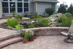 Water Feature with small Pond Near Grand Chute, WI