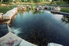 Landscape Pond with Waterfall near Neenah, WI